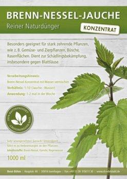 REINER NATURDÜNGER: Dieser Biodünger ist zu 100% ein reines Naturprodukt. Der Pflanzenschutz gelingt Ihnen mit diesem Brennnesselsud ganz ohne Chemie