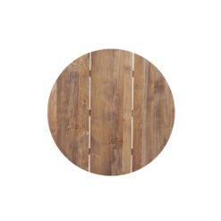Tischplatten Recycled Teak für Tischgestell San Marino Rund.Tischplatten aus recyceltem, altem Teakholz. Durchmesser 120 cm